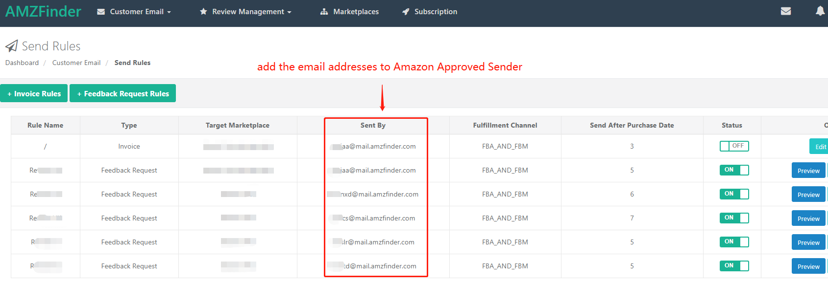 AMZFinder-Amazon approved sender