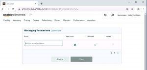 Amazon message permission list